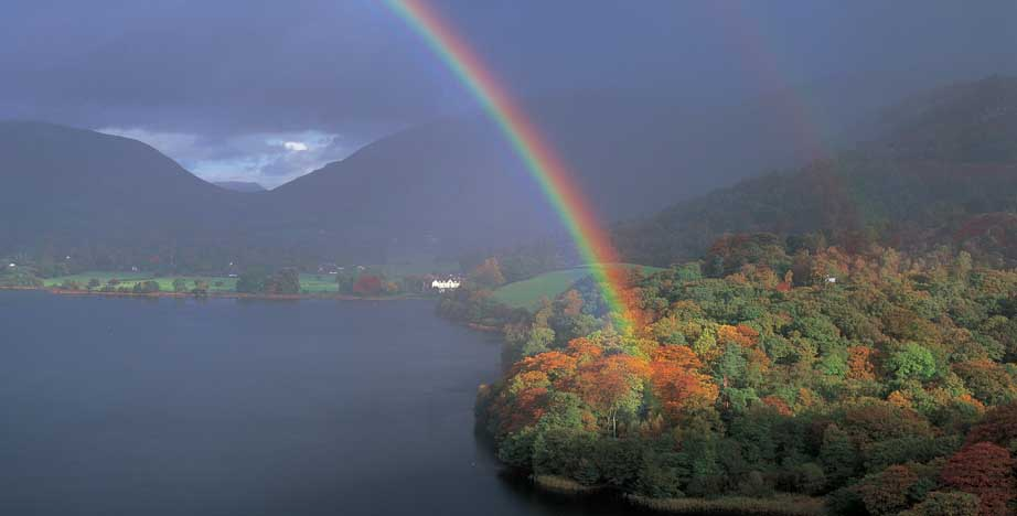 rainbow over Grasmere