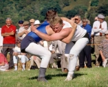 Cumberland and Westmorland wrestlers at a tradtional valley show